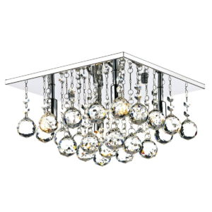 Abacus 4 Light 300MM G9 Square Flush Polished Chrome