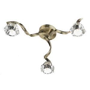 Ancona 3 Light Flush Antique Brass