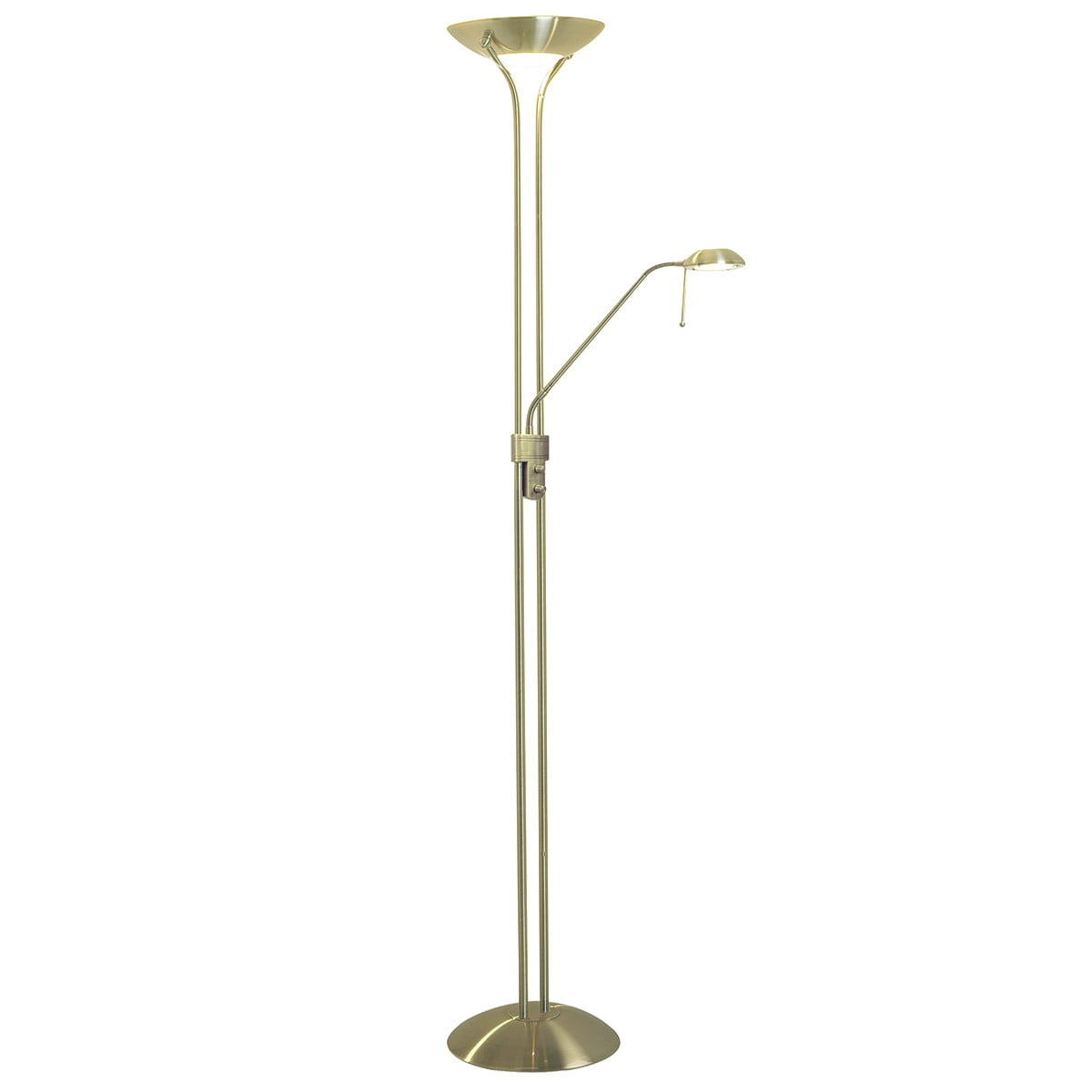 Montana floor lamp satin brass witney lighting for Montana floor lamp satin brass
